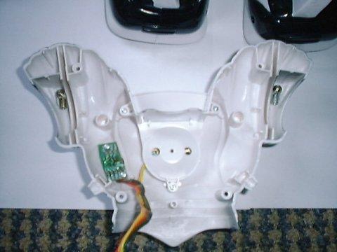 inside of Robosapien's back